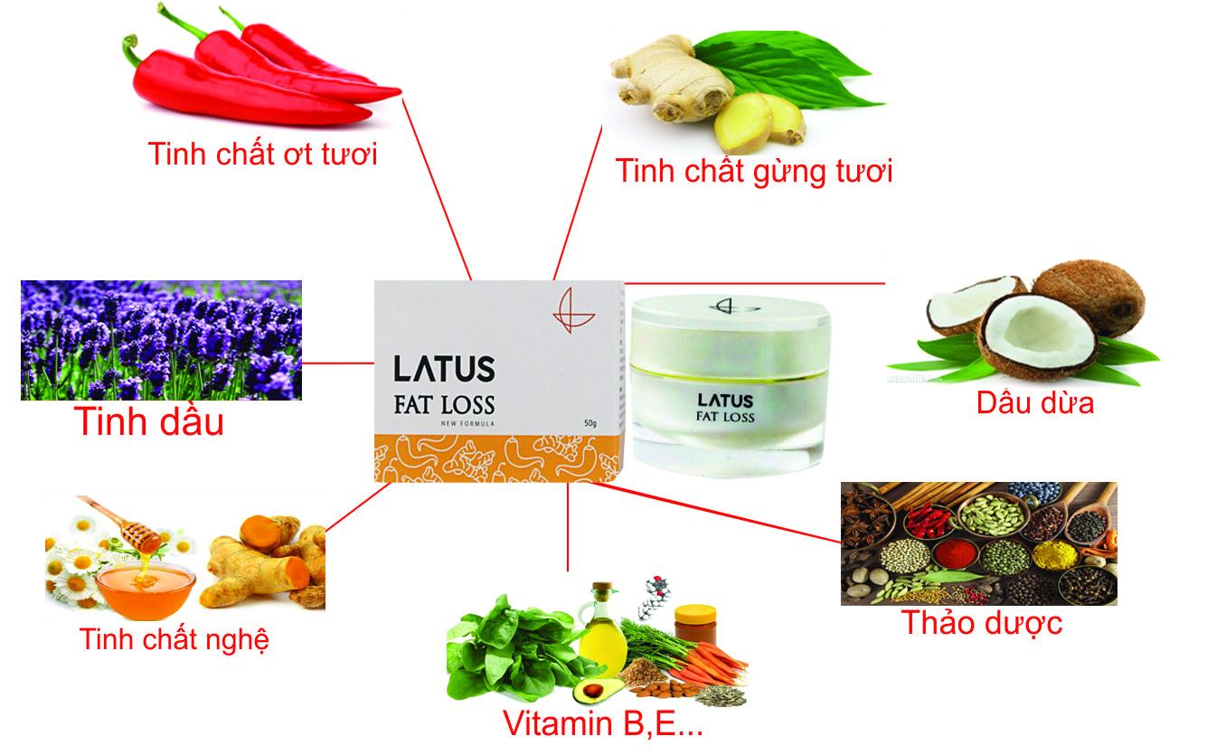 Kem tan mỡ Latus