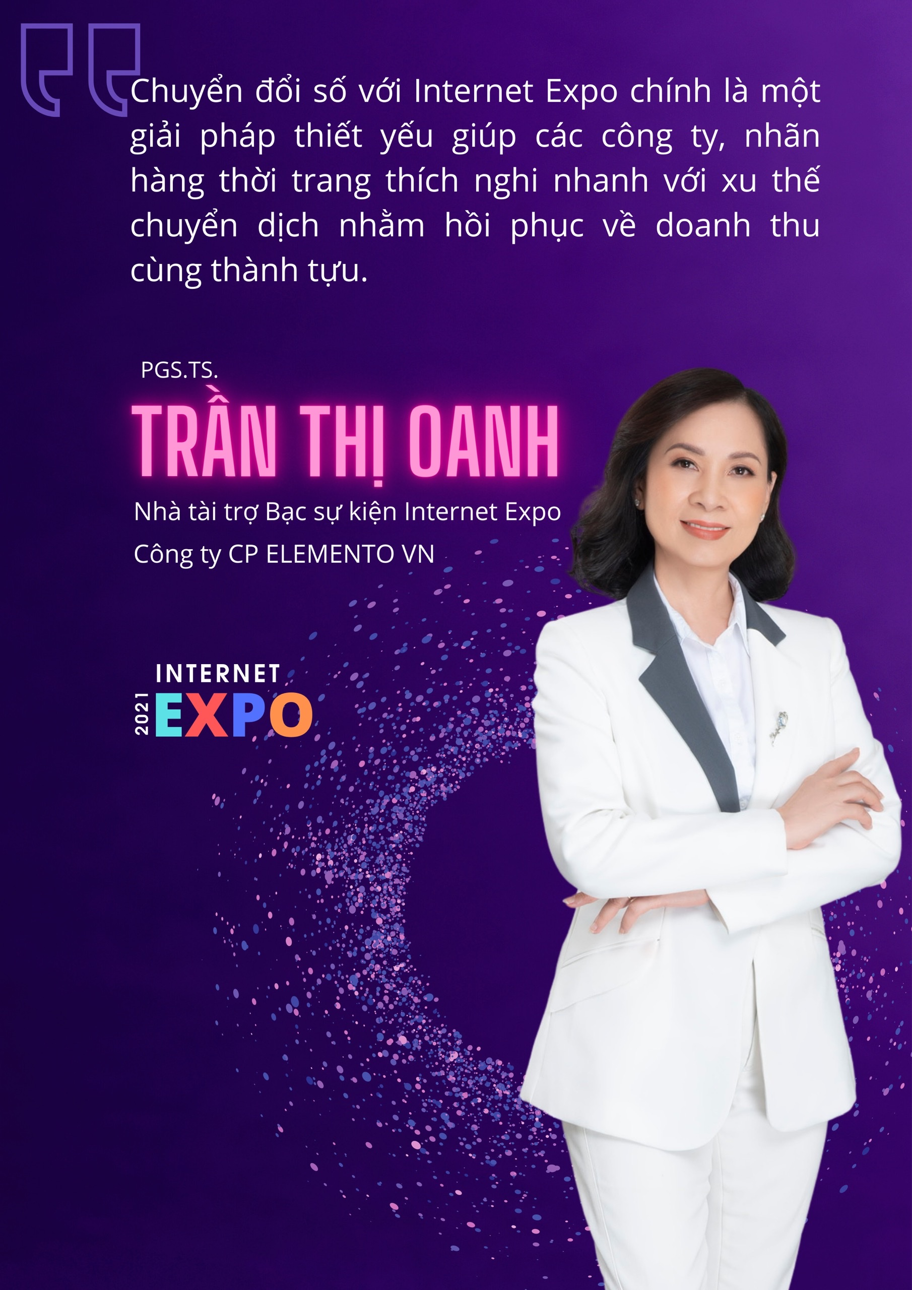 Đồng hành cùng Internet Expo 2021 – Phát biểu của PGS.TS. Trần Thị Oanh tại chương trình Chuyển đổi số trong ngành làm đẹp, thể thao và sức khỏe