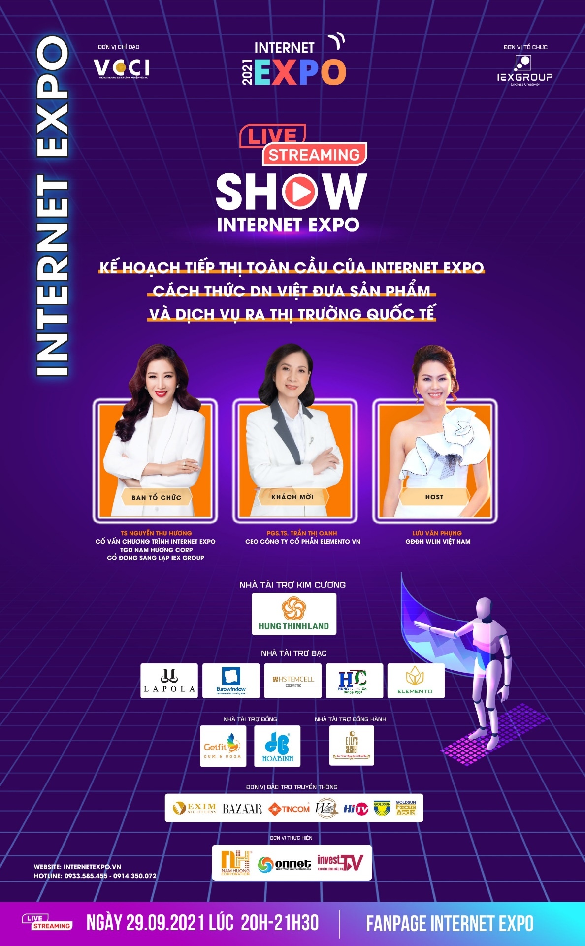 Đồng hành cùng Internet Expo 2021 – Chương trình livestream, cách thức doanh nghiệp Việt đưa sản phẩm và dịch vụ ra thị trường quốc tế.